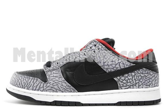 new style e3e0c 3759c Mentalkicks.com - nike dunk low pro SB Supreme black cement ...
