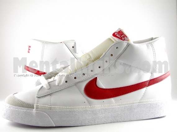 nike blazer white red