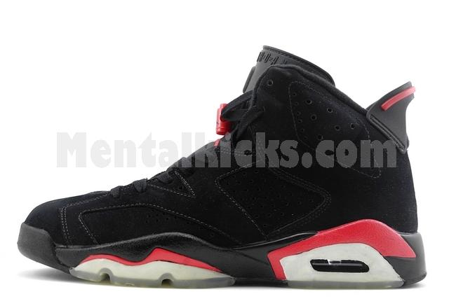 wholesale dealer 70c46 8fb24 nike air jordan 6 retro black varsity red 384664-061