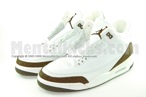9106d550cc4 Mentalkicks.com - nike air jordan 3 retro - white/dark mocha ...