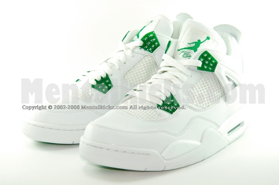 quality design 4bf97 9f1b3 Mentalkicks.com - nike air jordan 4 retro - white/chrome ...