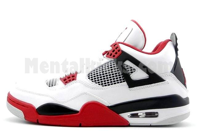 nike air jordan 4 retro white fire red
