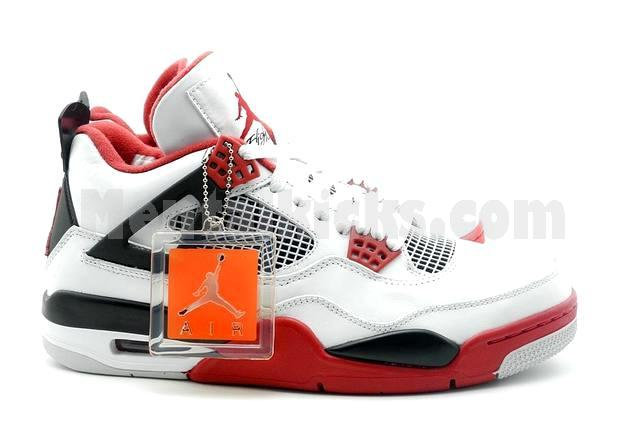 dcb0cd28d3189 Mentalkicks.com - nike air jordan 4 retro fire red 308497-110