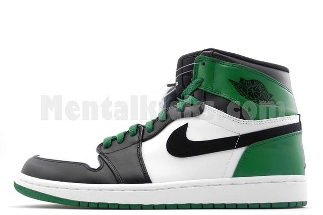 big sale 587dd d4517 nike air jordan 1 retro boston celtics