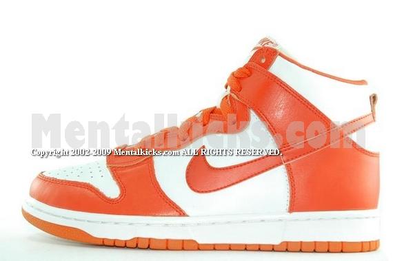 Mentalkicks.com - Nike dunk high LE 1999 orange white classic f92bc6613c6b