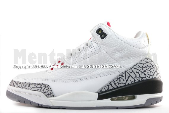 Mentalkicks.com - nike air jordan 3 retro - white cement grey-fire ... 1f72542a65