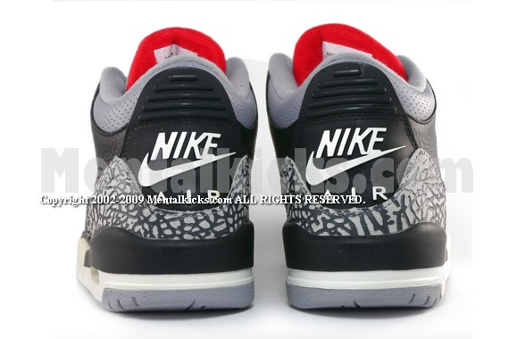 hot sale online 00cae c7cea Mentalkicks.com - nike air jordan 3 retro 2001 - black ...