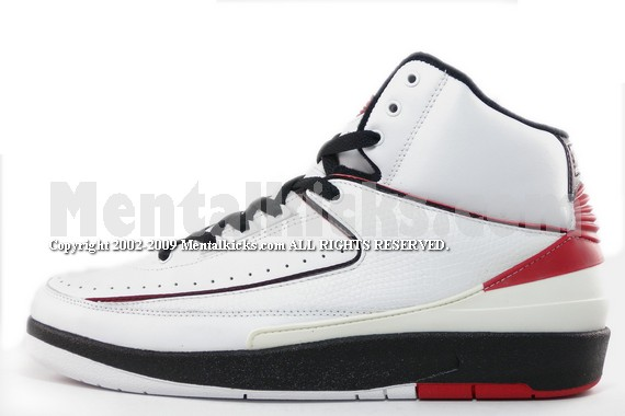 Mentalkicks.com - nike air jordan 2 retro - white varsity red-black ... 32ad3ea00
