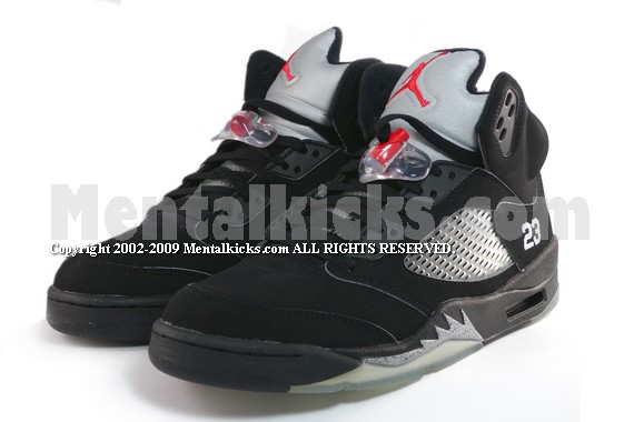 72adb3544219d9 Mentalkicks.com - nike air jordan 5 retro 2007 - black metallic ...