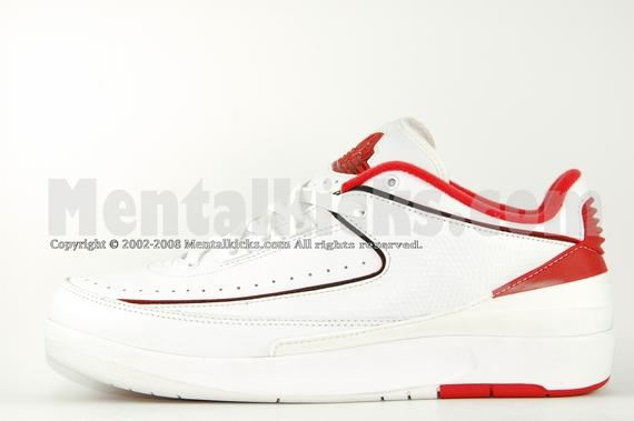 new product c6685 b3a6f Mentalkicks.com - nike air jordan 2 retro low - white/black ...