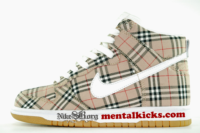 "Sample: MARRIED TO THE MOB x NIKE  ""Burberry Dunk High"""